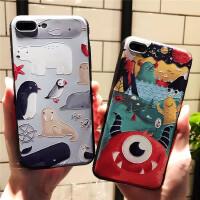 苹果6手机壳iPhone6/6s/plus保护壳硅胶软套情侣创意全包男女款企鹅怪兽