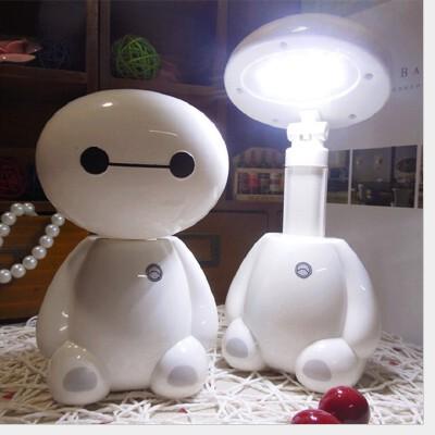 大白LED充电台灯 儿童节能护眼学习小台灯 可伸缩折叠礼品台灯尺寸10*8.4*17.5cm