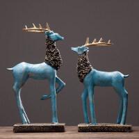 创意客厅电视柜酒柜室内摆设欧式麋鹿摆件家居装饰品乔迁新居礼品