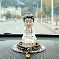 陶瓷车内饰品摆件保平安如来佛像男女车载装饰品创意汽车用品