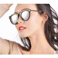 韩版时尚复古偏光太阳镜户外新款女潮炫彩大框圆脸太阳眼镜休闲百搭个性墨镜