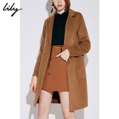 【不打烊价:557.7元】 Lily春秋新款羊毛双面呢大衣宽松毛呢外套1987 过年不打烊!专区2件3折,新品3折起!