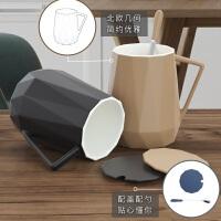 创意潮流北欧杯子陶瓷马克杯带盖勺个性办公室用大容量男家用水杯