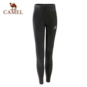 camel骆驼运动女款弹力针织长裤速干透气轻柔时尚运动长裤