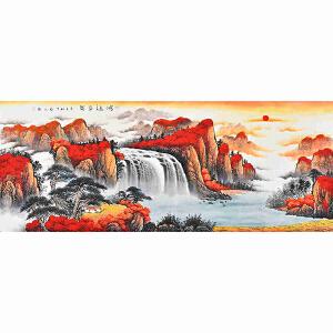 当代著名画家薛永178 X 69CM山水画gs01543