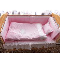 Hello Kitty新生婴儿四季床品五件套(被芯 被罩 枕头 围栏 床单)120*60