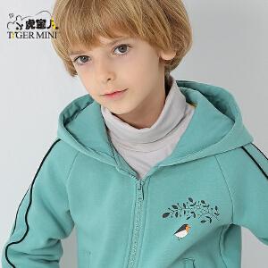 小虎宝儿童装男童加绒加厚外套儿童秋冬夹克2018新款 韩版 休闲潮