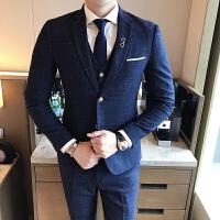 17四季款男式潮流西服裤子马甲套装韩版修身青年免烫西装三件套