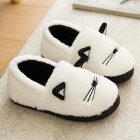 №【2019新款】冬天儿童穿的棉拖鞋女情侣可爱卡通家居家室内毛毛包跟棉鞋男 包跟