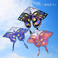 2020新款多色多彩蝴蝶风筝儿童易飞带线