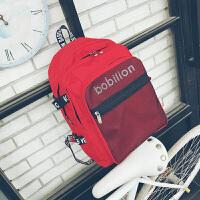 韩版学院风校园高中学生书包帆布大容量背包