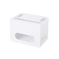 家用�o�路由器收�{盒 置物架wifi盒子插排��收�{盒整理�盒抖音同款
