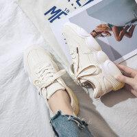 小白鞋女2019新款春季百搭韩版ins老爹运动鞋女小熊鞋网红女鞋子
