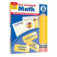Evan-Moor Skill Sharpeners Math Grade 5 小学五年级数学练习册 美国加州教辅 技