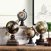 美式办公室书房卧室家居装饰品桌面摆设北欧复古创意地球仪小摆件