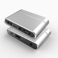 VGA连投影仪红米Note 5/S2小米5 Plus/Note 5A手机转接头HDMI电 银色【红米手机转VGA投影仪