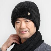 中老年帽子男冬季老人老头帽爷爷冬天保暖爸爸针织毛线帽