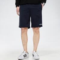 幸运叶子 Adidas/阿迪达斯短裤男2021春季新款宽松舒适透气休闲裤侧边三条纹跑步健身运动五分裤DZ8480