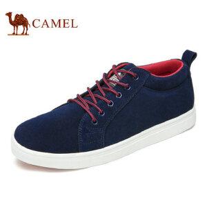 camel 骆驼男鞋夏季男士时尚运动轻盈舒适潮流反绒休闲鞋