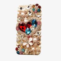 苹果7手机壳iPhone8plus软硅胶套珍珠爱心水钻奢华潮牌女款挂绳