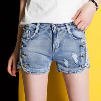 韩范小脚修身直筒女装牛仔裤百搭短裤时尚女裤潮流夏季热裤