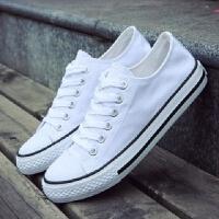 春夏季初中高中学生板鞋韩版青少年帆布鞋透气双色男鞋子鸳鸯潮鞋