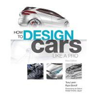 英文原版 像专家一样设计汽车 How to Design Cars Like a Pro