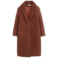 纯色毛呢大衣女秋冬新款韩版中长款过膝宽松显瘦ulzzang呢子外套