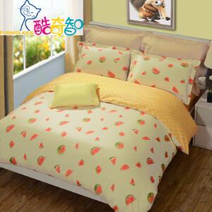 [当当自营]富安娜家纺酷奇智全棉套件卡通四件套 床简约床品 西瓜派 黄色 1.5米床 (5英尺)