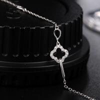 罗曼蒂珠宝18K金简约女款时尚钻石手链 金链子需定制