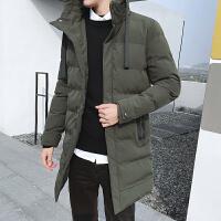 男士外套冬季新款加厚棉袄潮冬装羽绒中长款棉衣DJ934T155