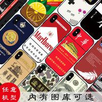 趣味搞怪苹果xsmax手机壳iphone7plus/8软6s5se个性烟盒oppor9s女
