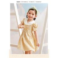【抢购价:39】笛莎童装女童连衣裙2021夏季新款宝宝儿童洋气时尚甜美公主碎花裙