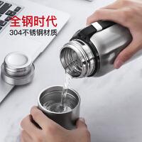 光一全钢保温杯大容量便携男士泡茶杯1000ML户外水壶304不锈钢水杯子