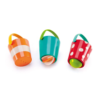 Hape花式水漏桶组合套12个月以上宝宝洗澡玩具婴幼玩具戏水浴室玩具E0205