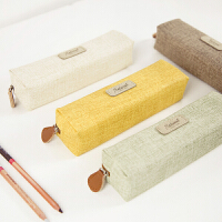 韩国文具袋男女生文具盒 创意简约铅笔盒学生纯色笔袋女 小清新