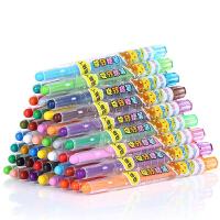儿童蜡笔12色36色宝宝蜡笔涂色旋转油画棒画笔18色24色无毒可水洗