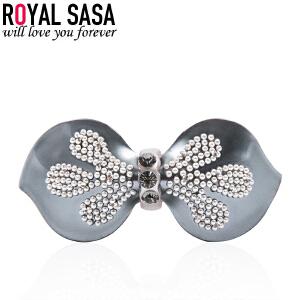 皇家莎莎RoyalSaSa韩版头饰发卡饰品人造水晶横夹发夹发饰马尾夹弹簧夹顶夹