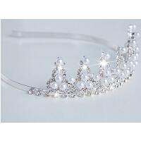 儿童时尚皇冠发饰女孩公主头饰 花童珍珠发箍演出头箍钻饰