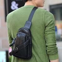 新款男士胸包 时尚韩版休闲腰包斜跨 潮包单肩男款包包斜挎包旅行 咖啡