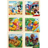 迪士尼拼图玩具 9片木制框拼六合一(米奇2666+米奇2685+维尼2668+维尼2687+恐龙2672+恐龙2691