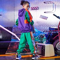男童街舞套装秋季少儿童装hiphop运动男孩嘻哈表演衣服潮酷