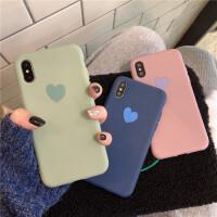 苹果x手机壳手绘抹茶绿小爱心iPhonexs/max/xr个性可爱硅胶6/7/8plus全包6s情侣 【XS MAX】
