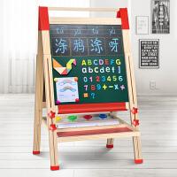 儿童双面磁性画板家用小黑板支架式写字画画板可升降