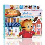 Meet the Neighbors遇见邻居Daniel Tiger丹尼尔老虎 英文原版绘本 儿童启蒙纸板图画书