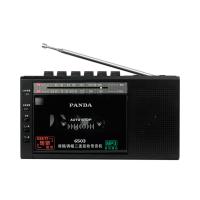 PANDA/熊� 6503收��C磁�мDmp3插卡U�P便�y式可放磁�У氖找翡�音�C英�Z�W生教�W用播放�C器老式�雅f多功能 黑色
