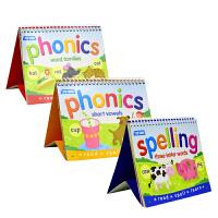 Top That Phonics&Spelling 拼读拼写台历式3本套装 儿童英语自然拼读 拼写字母书 3-7岁 英