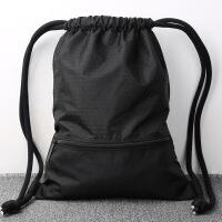 女士双肩背包束口袋抽绳双肩包男女通用户外旅行背包轻便折叠运动健身包袋