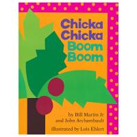 Chicka Chicka Boom Boom 叽喀叽喀碰碰 廖彩杏 入门启蒙早教26字母 凯迪克大奖英语绘本 儿童英
