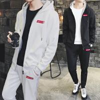 运动套装男冬季青年运动服休闲卫衣长袖加绒加厚套装 DJ955T90